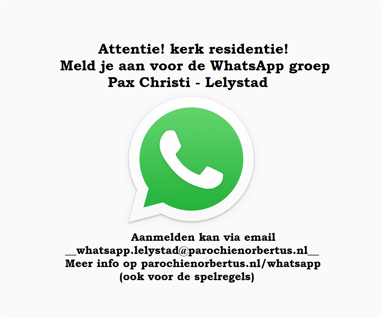 WhatsApp Flyer